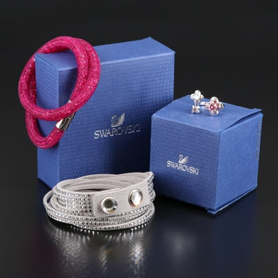 Swarovski Assortment Featuring Suede and Stardust Bracelets
