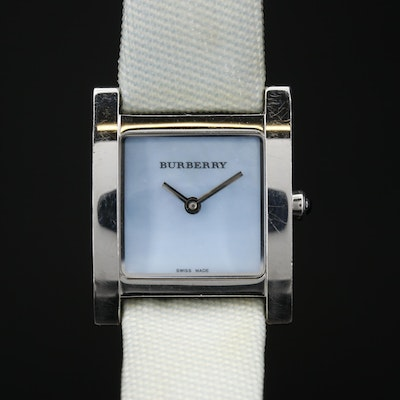 "Burberry ""Nova Check"" Stainless Steel Quartz Wristwatch"