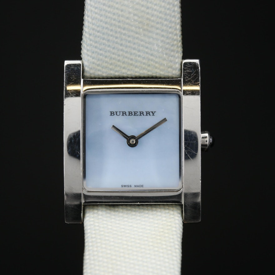 "Burberry ""Nova Check"" Stainless Steel Quartz Wristwatch"