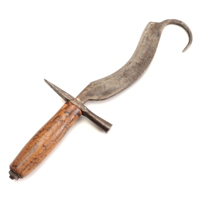 Unusual File Blade Agricultural Knife, Early to Mid 20th Century