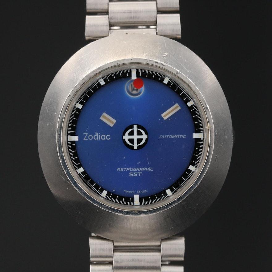 """Zodiac """"Astrographic SST"""" Stainless Steel Automatic Wristwatch"""