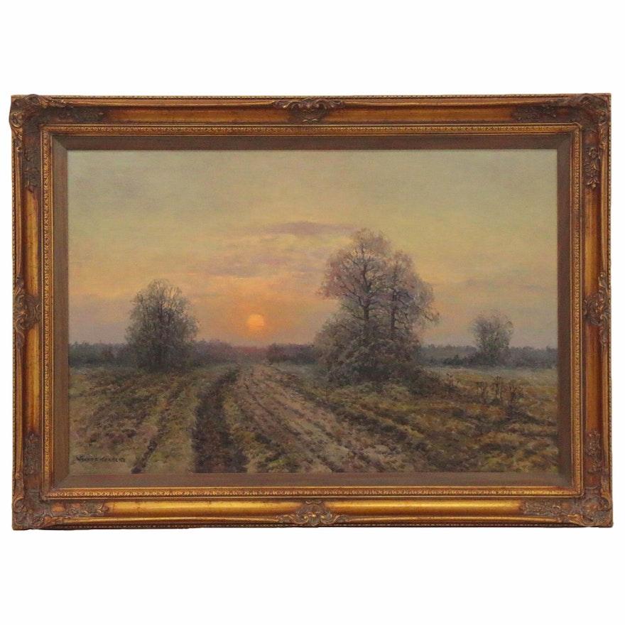 Wiktor Korecki Landscape Oil Painting