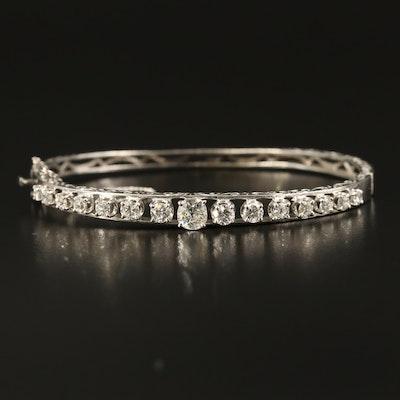 14K 2.35 CTW Diamond Openwork Bracelet
