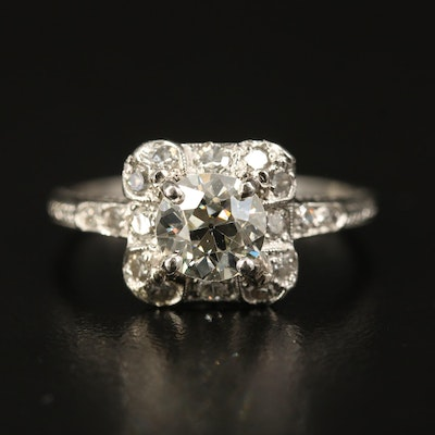 Vintage Platinum 1.40 CTW Diamond Ring