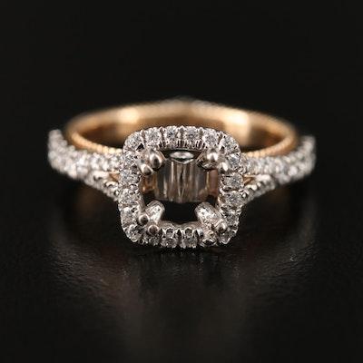 Verragio Two-Tone Diamond Semi-Mount Ring