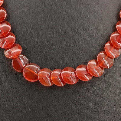 Carnelian Necklace with 14K Clasp