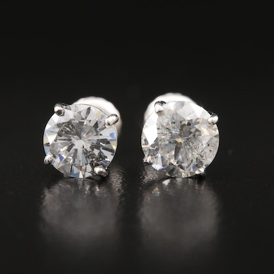 14K 2.53 CTW Diamond Stud Earrings