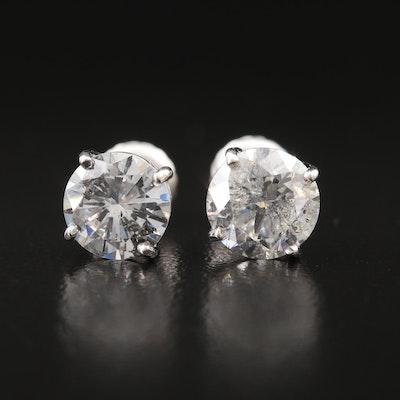 14K 2.53 CTW Diamond Stud Earrings