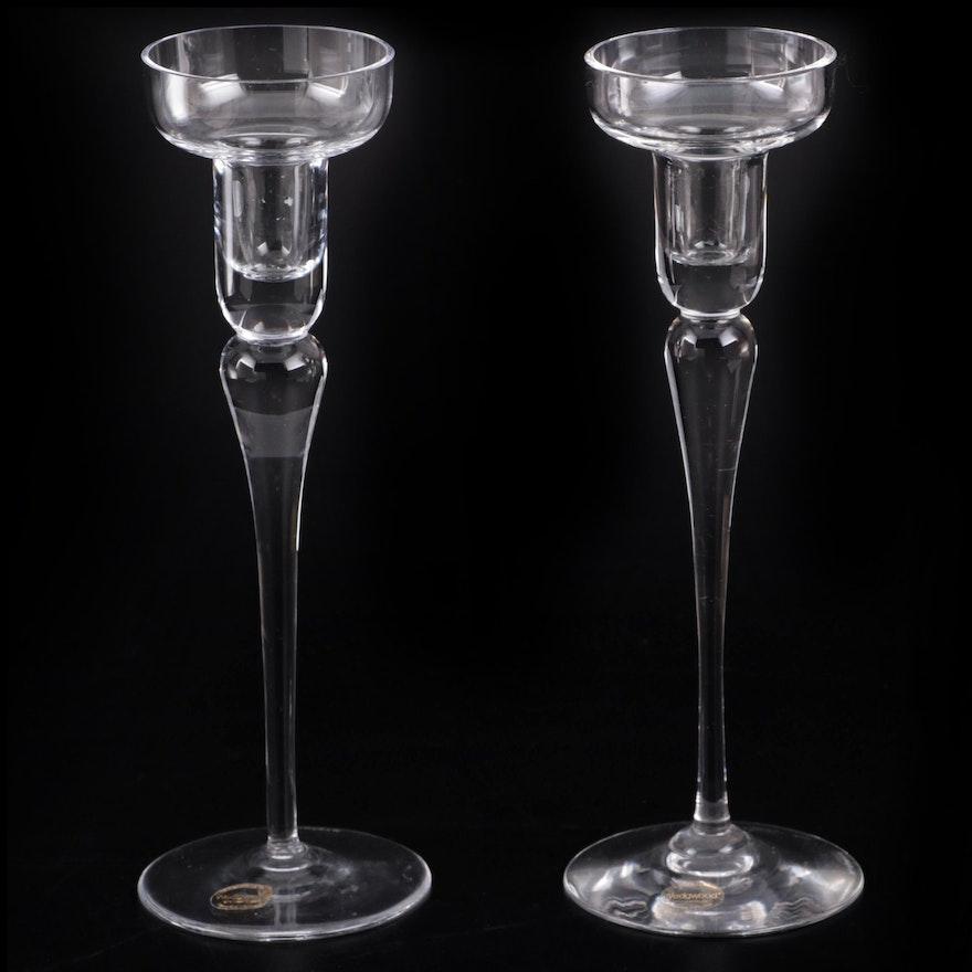 """Wedgwood """"Devon"""" Crystal Candlesticks, 1983–1986"""