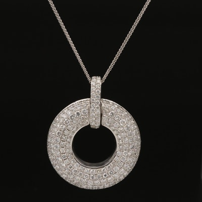 18K 5.51 CTW Pavé Diamond Necklace