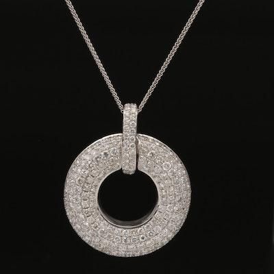 18K 5.51 CTW Pavé Diamond Necklace