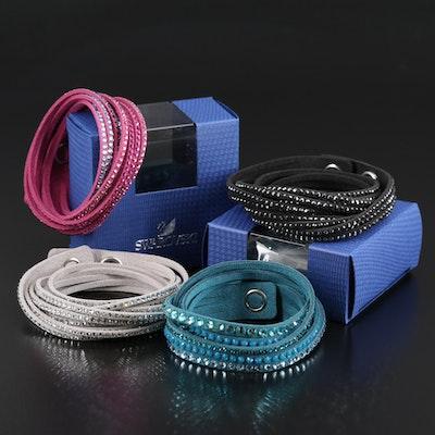 Swarovski Suede Wrap Bracelets
