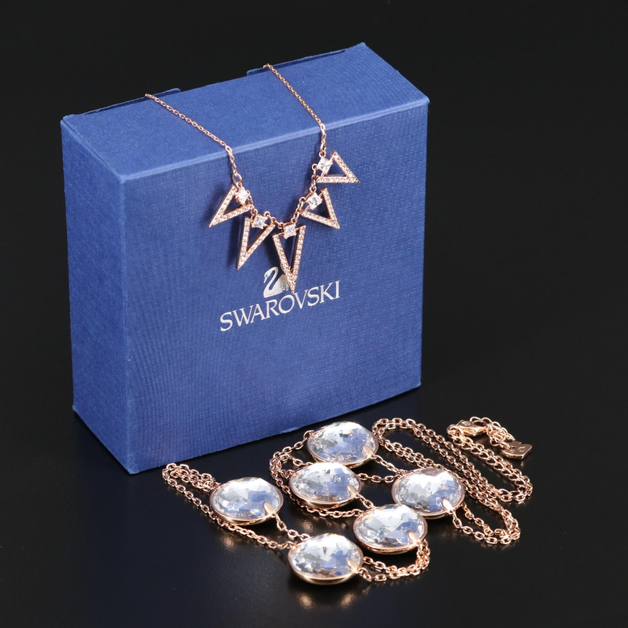 """Swarovski Featuring """"Globe"""" and """"Funk"""" Necklaces"""