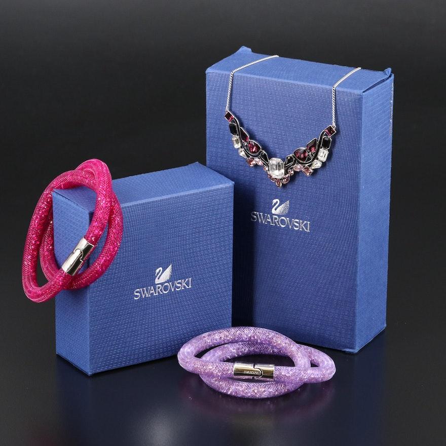 """Swarovski """"Impulse"""" Necklace and """"Stardust"""" Bracelets"""