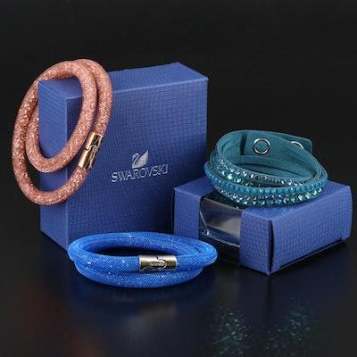 """Swarovski """"Stardust"""" Bracelets and Suede Wrap Bracelet"""
