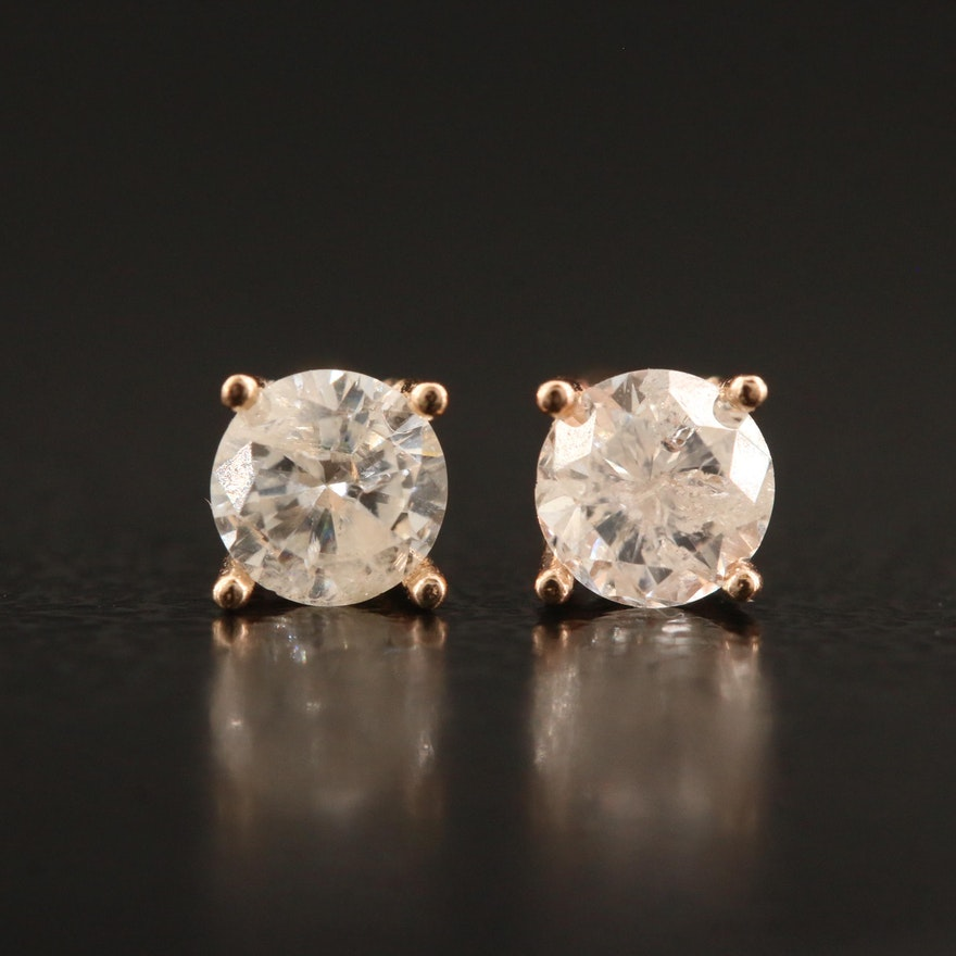 14K 0.41 CTW Diamond Stud Earrings