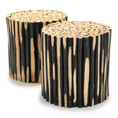 Pair of Contemporary Alder Branch Side Tables