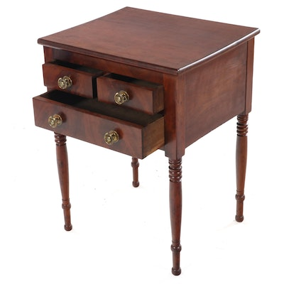 Late Federal Cherrywood Side Table, Mid-19th Century