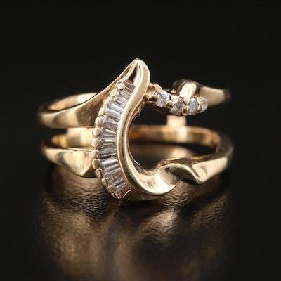14K Diamond Ring Guard