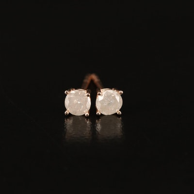 14K Rose Gold 0.34 CTW Diamond Stud Earrings