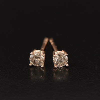 14K Rose Gold 0.34 CTW Diamond Stud Earrings