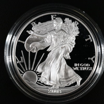 2003-W Proof American Silver Eagle Dollar Coin