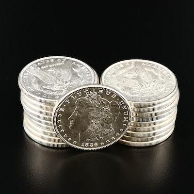 Twenty 1885 and 1886 Uncirculated Morgan Silver Dollars