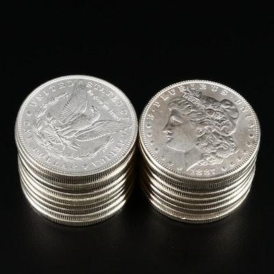 Twenty Uncirculated 1887 Morgan Silver Dollars