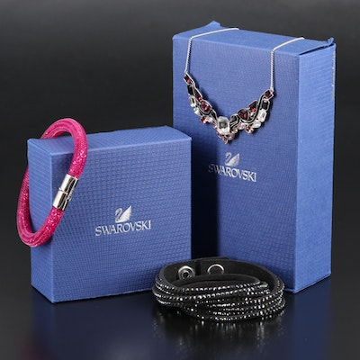 "Swarovski Bracelets and ""Impulse"" Multicolor Necklace"