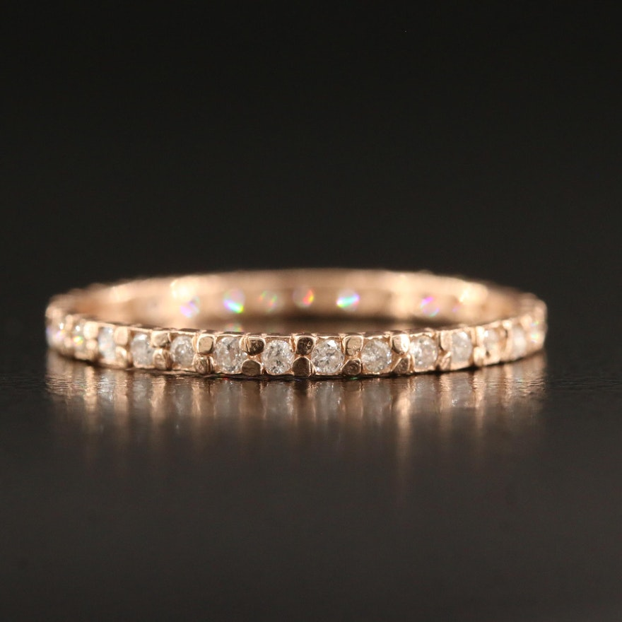 14K Diamond Eternity Ring