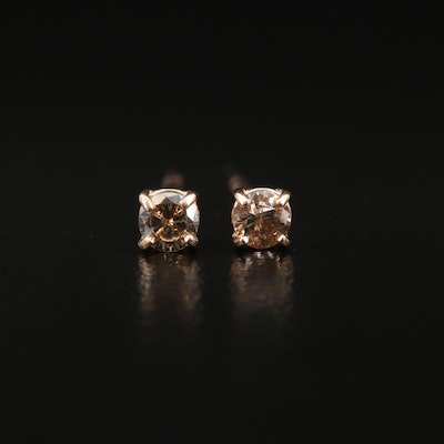 14K 0.18 CTW Diamond Stud Earrings