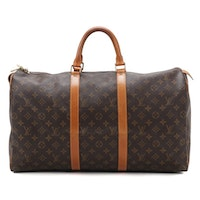 Louis Vuitton Keepall 50 in Monogram Canvas and Vachetta Leather