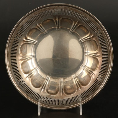 Meriden Britannia Co. Pierced Sterling Silver Serving Bowl