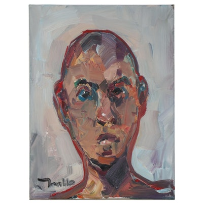 "Jose Trujillo Oil Painting ""Inner Warmth,"" 2020"