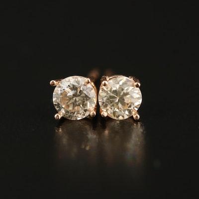 14K 0.78 CTW Diamond Stud Earrings
