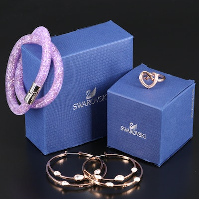 Swarovski Assortment Featuring Stardust Bracelet and Cupidon Ring