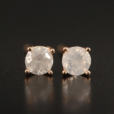 14K 0.38 CTW Diamond Solitaire Stud Earrings