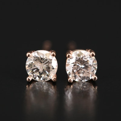 14K 0.62 CTW Diamond Stud Earrings