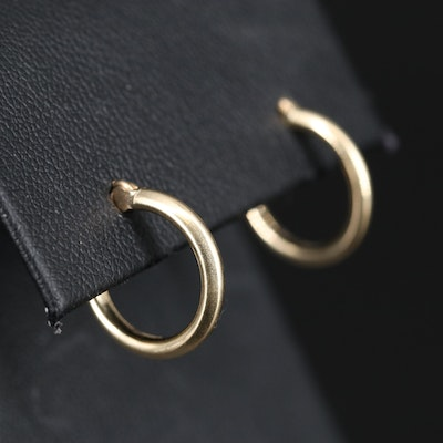 14K Tubular Hoop Earrings