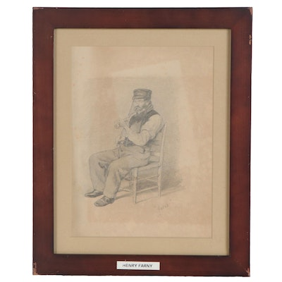 "Henry Farny Graphite Drawing ""Jacob"""