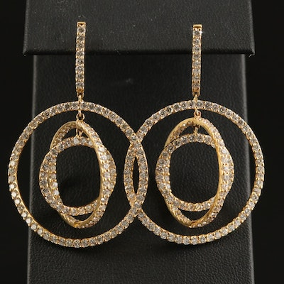 18K 5.52 CTW Diamond Orbital Earrings