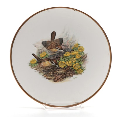 "Boehm Woodland Birds of America ""California Wren"" Bone China Plate"