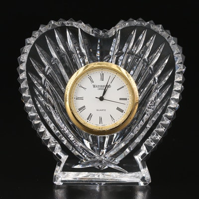 Waterford Crystal Heart Shaped Desk Clock