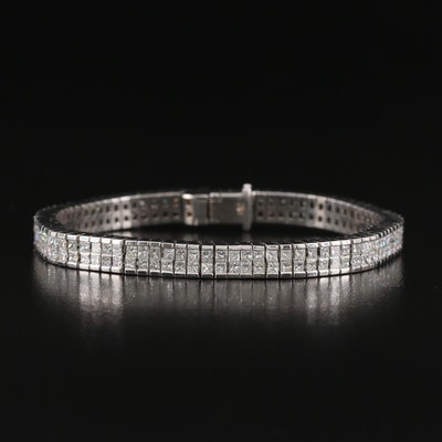 18K 5.75 CTW Diamond Bracelet