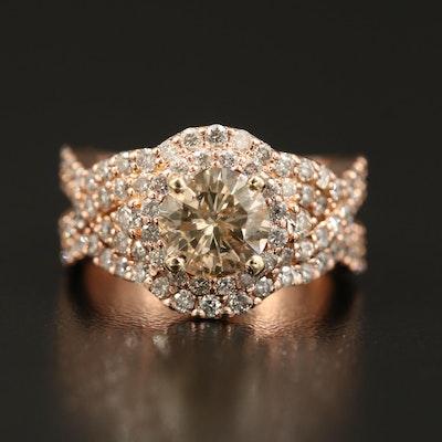 14K Rose Gold 3.10 CTW Diamond Ring