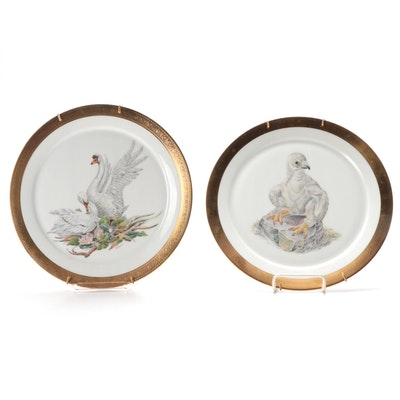 """Edward Marshall Boehm """"Young America 1776"""" and """"Mute Swan"""" Plates, 1970s"""