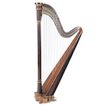 P.F. Brown and Co., NY, Rosewood Harp, Mid-19th Century