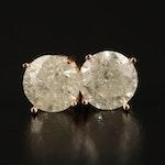 14K 2.60 CTW Diamond Stud Earrings