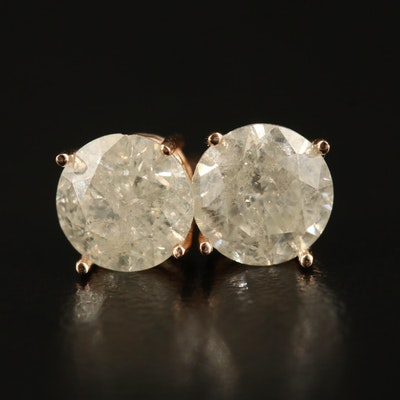 14K 2.60 CTW Diamond Stud Earrings
