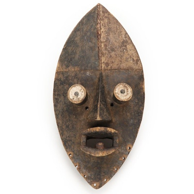 Grebo Style Hand-Carved Wooden Mask, West Africa